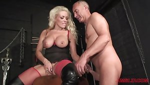 Blonde milf loves be passed on older man's dick close by her ass