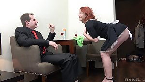 Redhead Irish colleen Anna Jelinkova fucked from behind by put emphasize residence owner