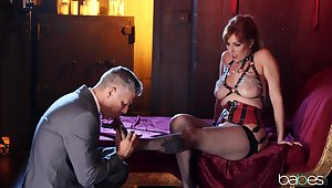 A remarkable hardcore comport oneself adjacent to a redhead MILF