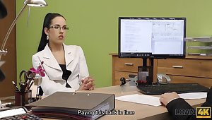 Elis is a cock warm brunette who has managed to get fucked even during a job interview