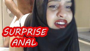 Homemade Arab anal fuck