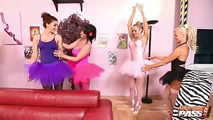 Kinky group sex party upon handsome join in matrimony Cindy Behr and their way friends