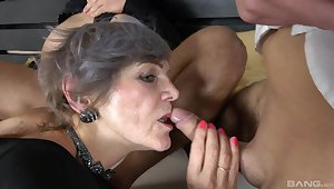 Shaved pussy Katsiaryna coupled with Ivana get fucked wide of massive dicks