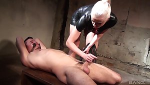 Inner woman plays with the submissive blarney in a pleasant XXX