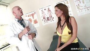 Hot ass brunette Allison star enjoys having sex with a doctor