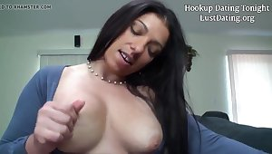 Lonely Mother - chubby brunette MILF sucking cock - POV blowjob & hardcore