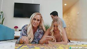 Blond Hair Babe mom bitches kitchen garden teen chubby knob