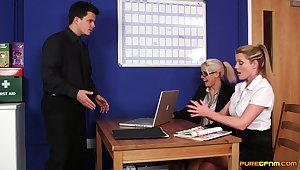 CFNM adjacent to sexy scenes of office porn