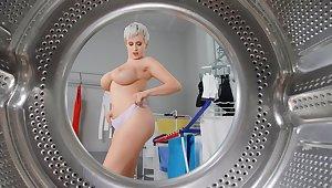 Premium MILF poses nude before fucking like a slut